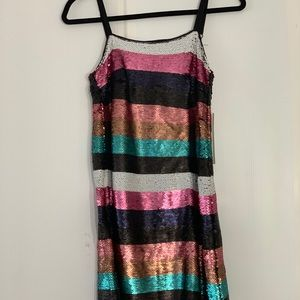 Dresses & Skirts - Beautiful striped sequin dress.